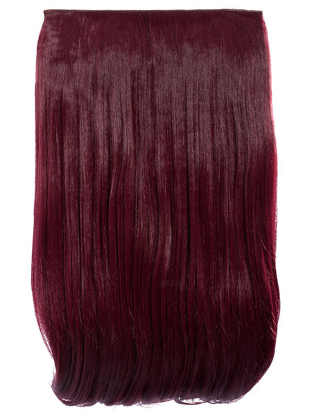 Lorna 1 Weft Straight 24″ Hair Extensions In Burgundy