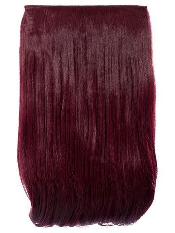 Lorna 1 Weft Straight 24″ Hair Extensions In Burgundy - Pretty Rebel