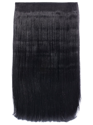 Lorna 1 Weft Straight 24″ Hair Extensions In Natural Black - Pretty Rebel