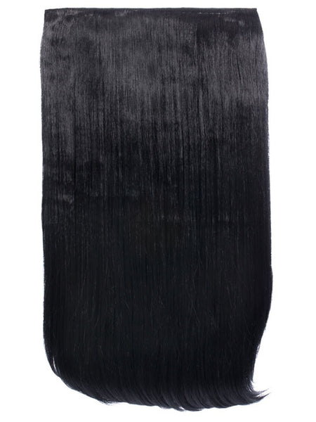 Lorna 1 Weft Straight 24″ Hair Extensions In Jet Black - Pretty Rebel