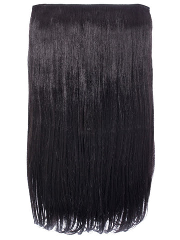 Lorna 1 Weft Straight 24″ Hair Extensions In Raven