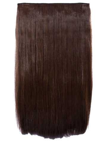 Lorna 1 Weft Straight 24″ Hair Extensions In Warm Brunette
