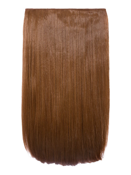 Lorna 1 Weft Straight 24″ Hair Extensions In Mixed Auburn