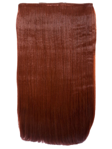 Lorna 1 Weft Straight 24″ Hair Extensions In Copper Red