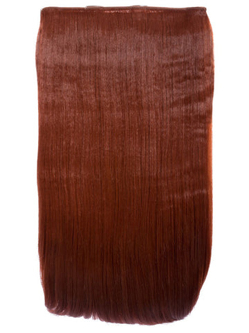 Lorna 1 Weft Straight 24″ Hair Extensions In Copper Red - Pretty Rebel