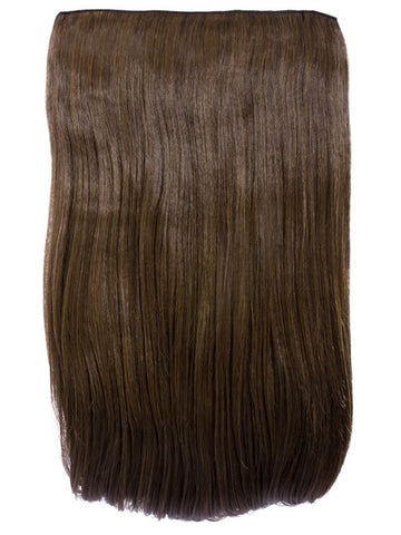 "Lorna 1 Weft Straight 24"" Hair Extensions In Dark Brown and Caramel"