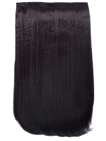 Lorna 1 Weft Straight 24″ Hair Extensions In Dark Brown