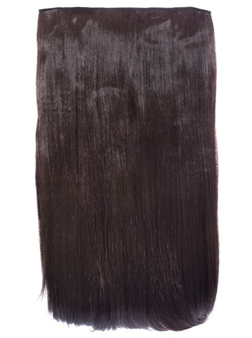 Lorna 1 Weft Straight 24″ Hair Extensions In Chocolate Brown