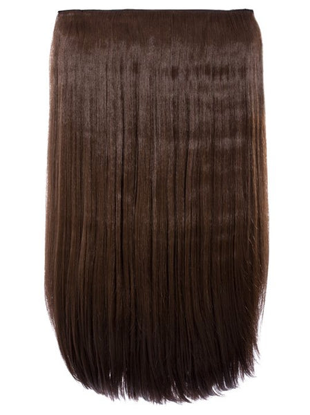 Lorna 1 Weft Straight 24″ Hair Extensions In Chestnut Brown - Pretty Rebel
