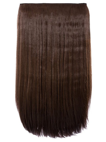 Lorna 1 Weft Straight 24″ Hair Extensions In Chestnut Brown