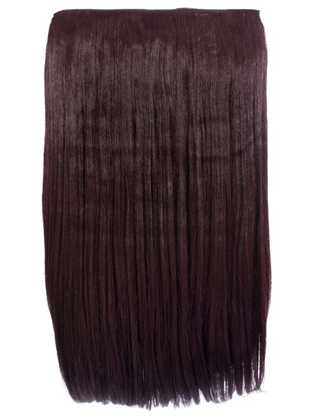 Lorna 1 Weft Straight 24″ Hair Extensions In Plum