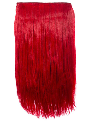 Lorna 1 Weft Straight 24″ Hair Extensions In Red - Pretty Rebel