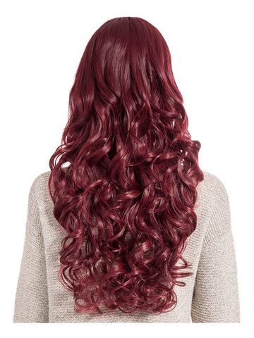 Olivia Curly Full Head Wig in Burgundy