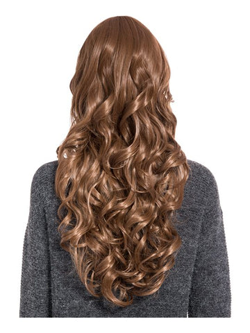Olivia Curly Full Head Wig in Golden Brown