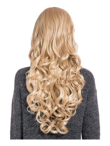 Olivia Curly Full Head Wig in Caramel Blonde