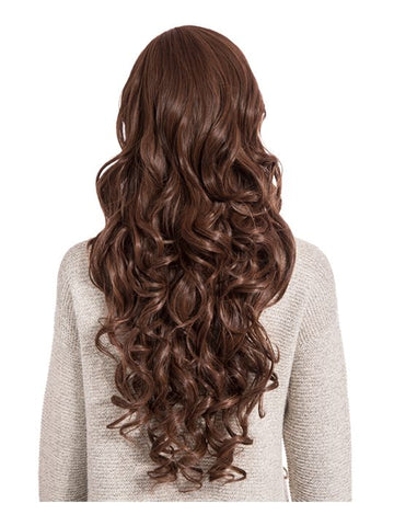 Olivia Curly Full Head Wig in Warm Brunette