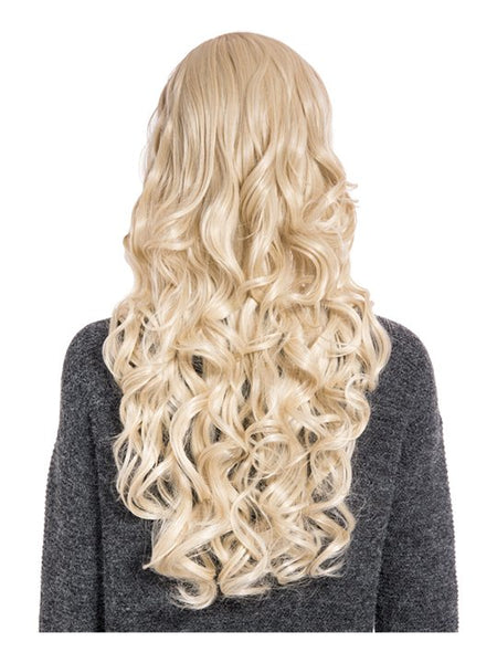 Olivia Curly Full Head Wig in Light Golden Blonde