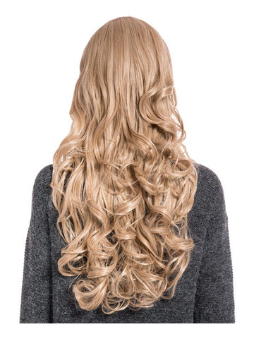 Olivia Curly Full Head Wig in Honey Blonde