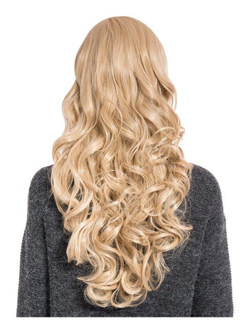Olivia Curly Full Head Wig in Golden Blonde