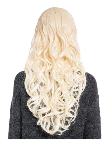 Olivia Curly Full Head Wig in Pure Blonde
