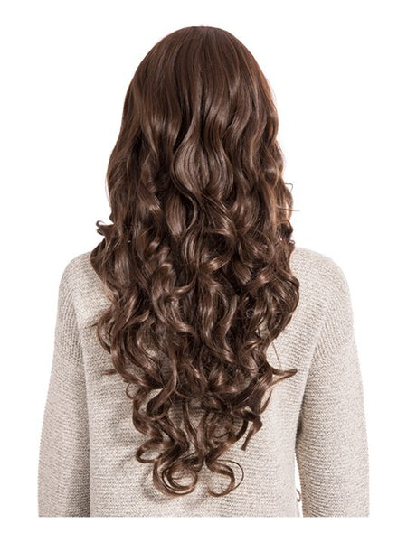 Olivia Curly Full Head Wig in Chestnut Brown