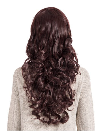 Olivia Curly Full Head Wig in Plum