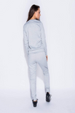 Ella Grey Zip Lounge Track Suit Set - Pretty Rebel