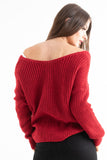 Red Knotted Knit Jumper - Pretty Rebel