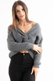 Grey Knotted Knit Jumper, Prettyrebel.com
