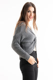 Grey Knotted Knit Jumper - Pretty Rebel