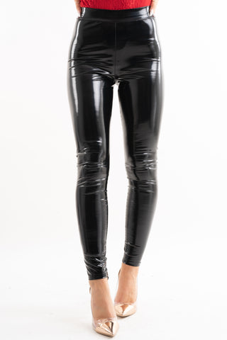 Monika Black High Shine High Waisted Leggings, Prettyrebel.com