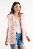 Pink Super Soft Faux Fur Gilet, Prettyrebel.com