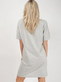 Grey Mon Amour Laser Cut T Shirt Dress - Pretty Rebel