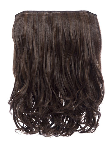 Rosie 1 Weft 16″ Curly Hair Extensions In Warm Brunette - Pretty Rebel