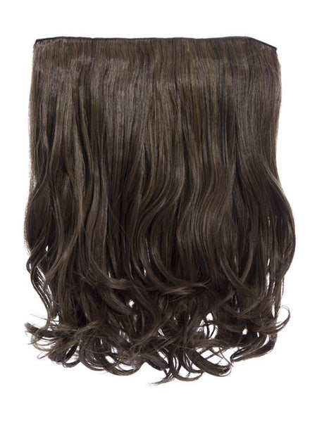 Rosie 1 Weft 16″ Curly Hair Extensions In Dark Brown and Caramel