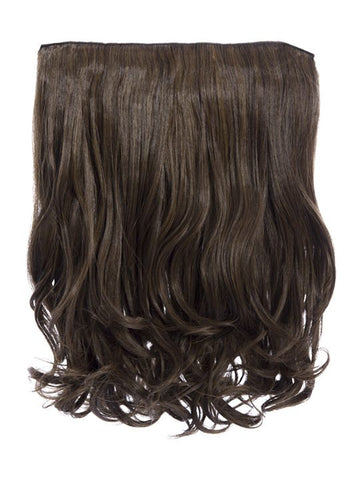 Rosie 1 Weft 16″ Curly Hair Extensions In Dark Brown and Caramel - Pretty Rebel