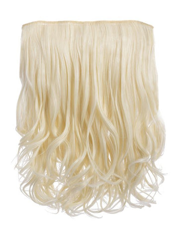 Rosie 1 Weft 16″ Curly Hair Extensions In Pure Blonde