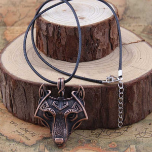 Viking Style Wolf Necklace