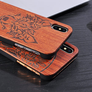 Genuine Wood Wolf Phone Case