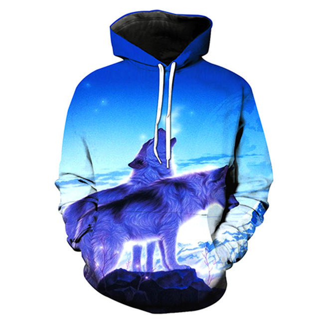 Exploring Together Wolf Hoodie