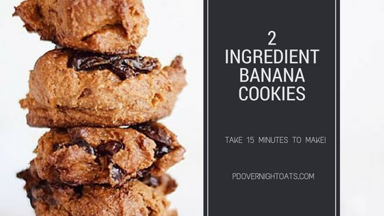 2 Ingredient Banana Cookies