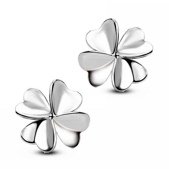Four-Leaf Clover Earrings Ear Studs