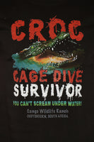 Croc Cage Dive Survivor T-Shirt