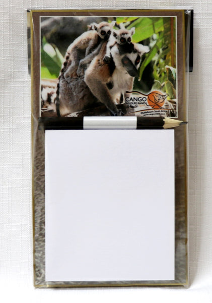 Smll Magnetic Notepad - Lemur with babies