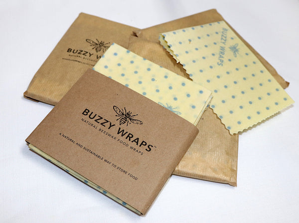 Natural Beezwax Food Wrap - 3 Piece Gift Set