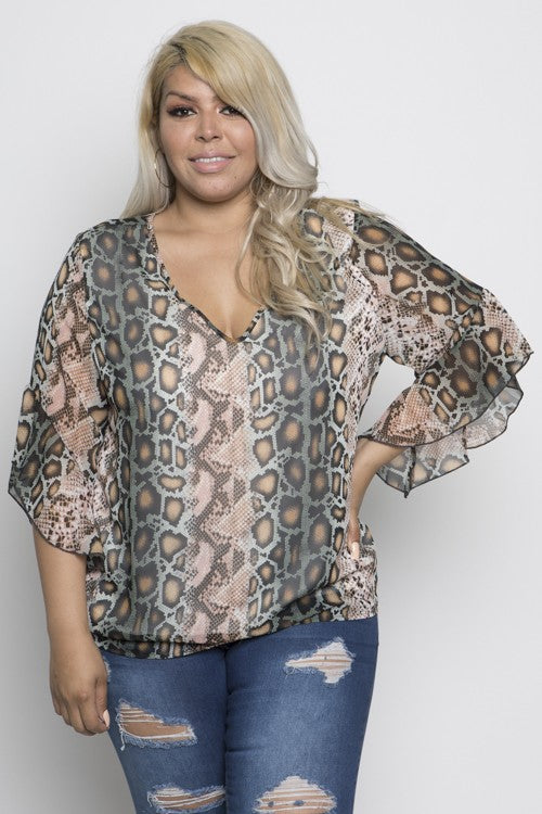 WILD ABOUT YOU TOP {CURVY}