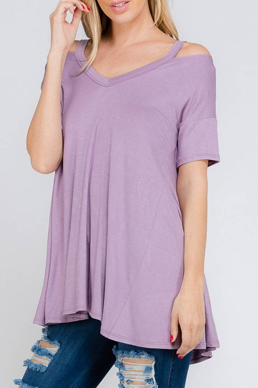 Cold Shoulder Relax Fit Tee