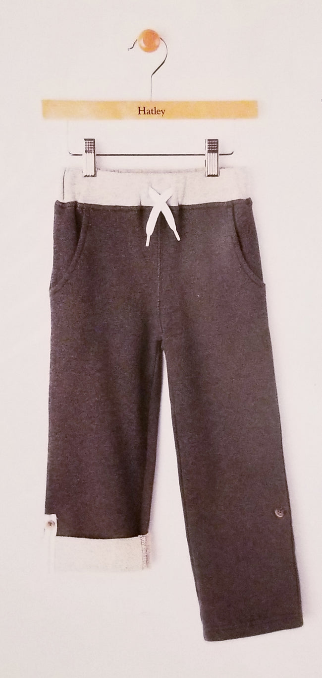 Charcoal Grey Roll-up Pants
