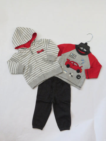 Farm Tractors Appliqué Organic Cotton Pajama Set