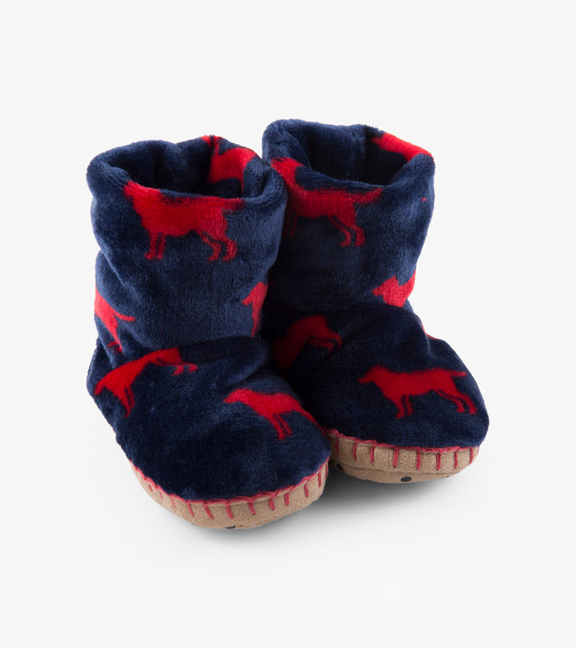 RED LAB FLEECE SLIPPERS